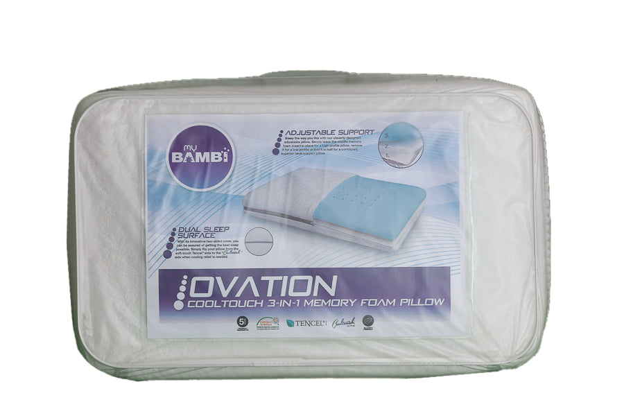 Bambi Ovation 3 in 1 Gel Infused Memory Foam Pillow