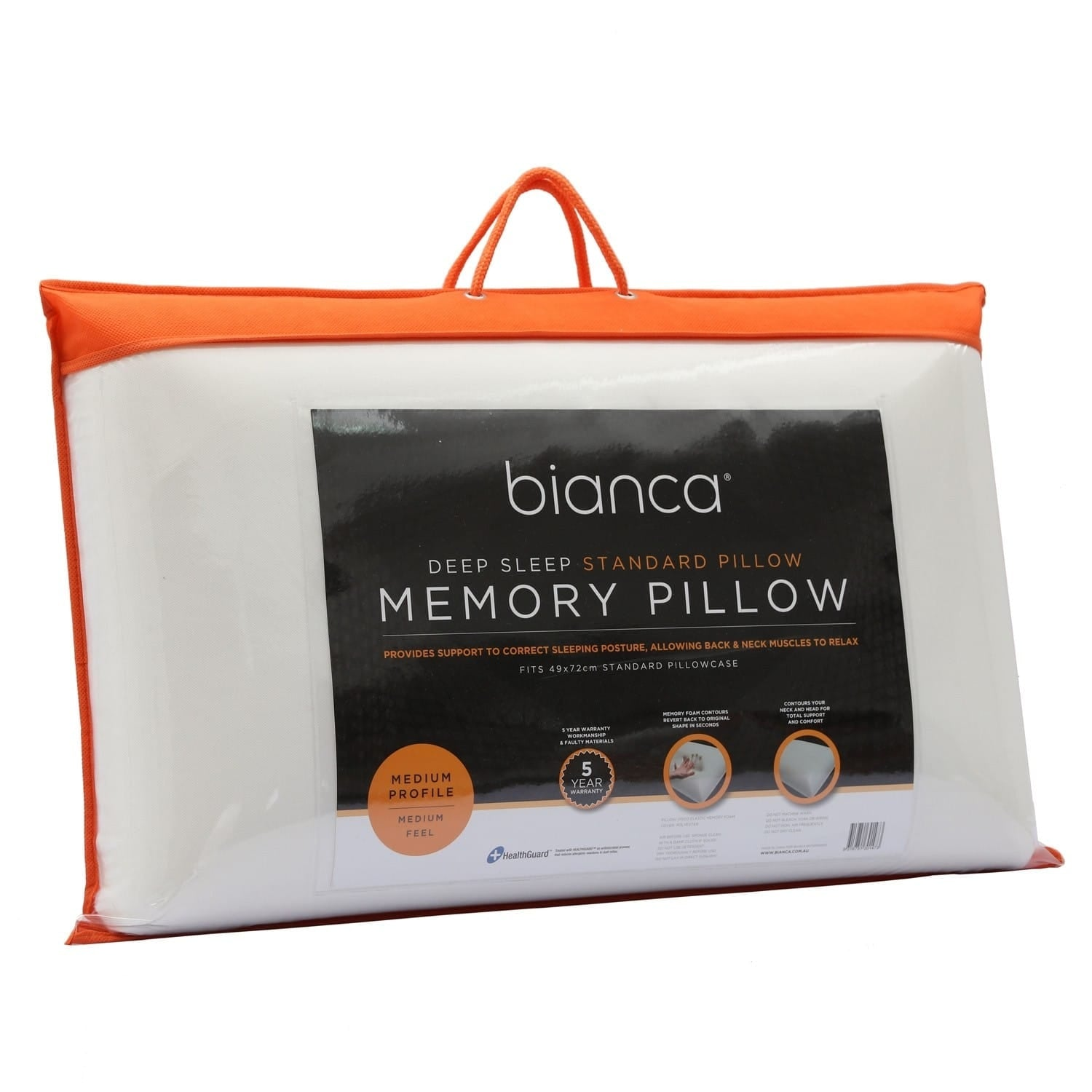 Bianca Deep Sleep Standard Memory Foam Pillow