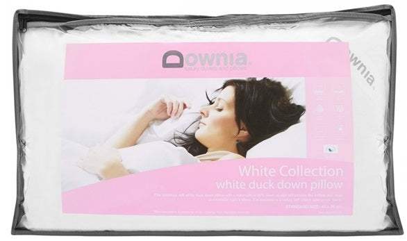 Downia White Collection White Duck Down Soft Pillow