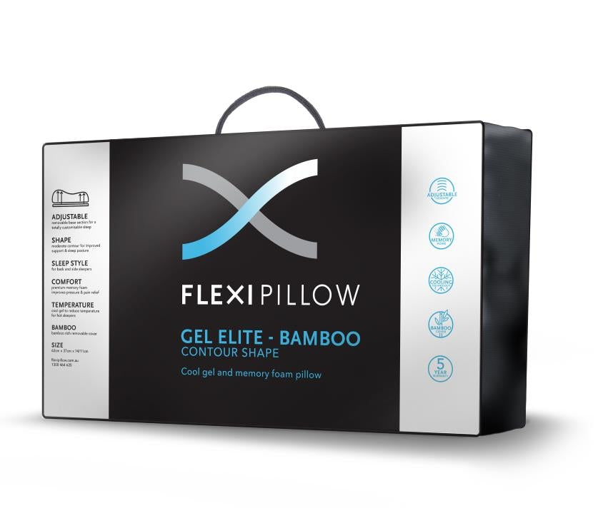 Flexi Pillow - Gel Contour With Bamboo