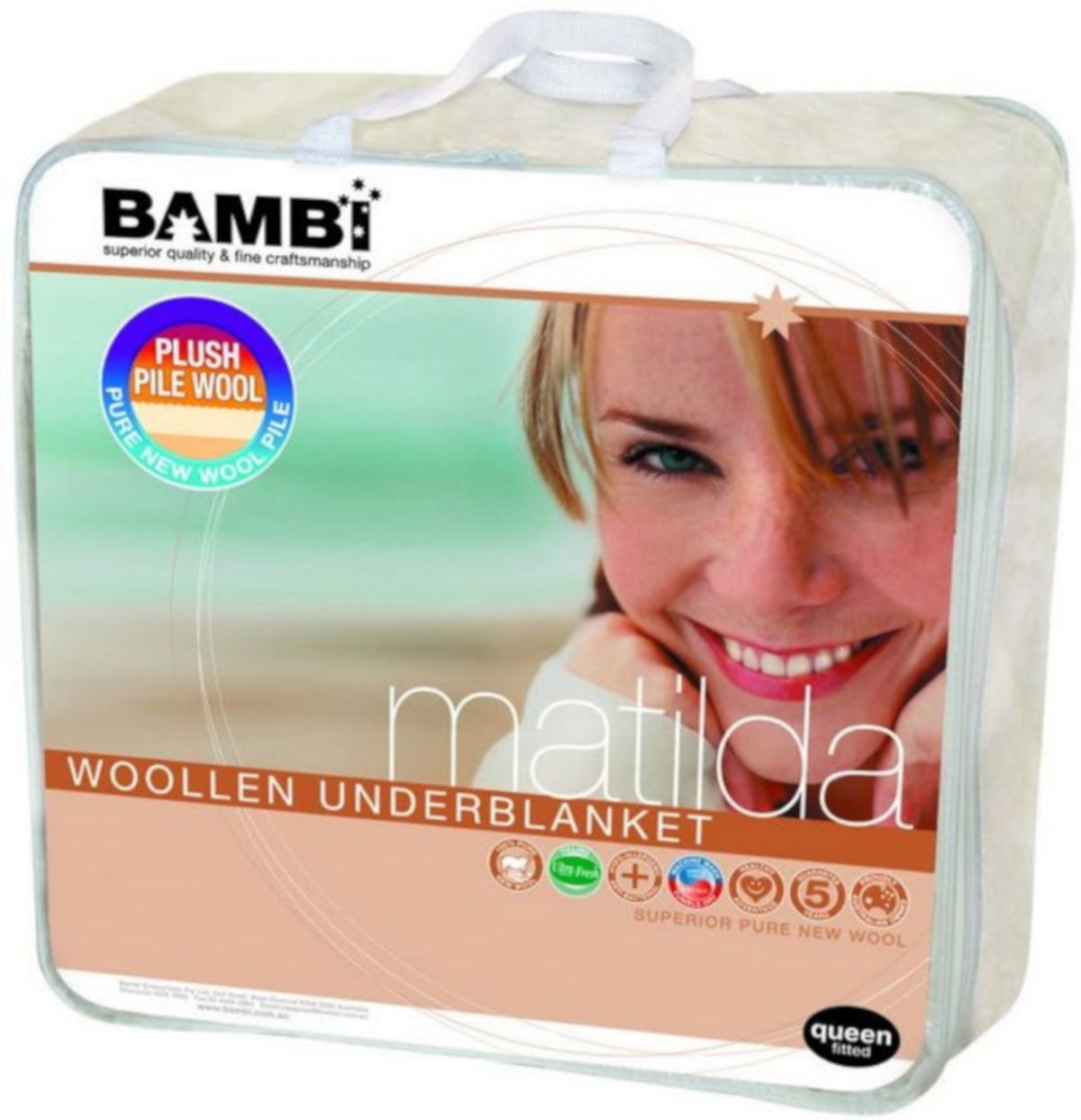 Bambi Matilda Single Layer Wool Underblanket
