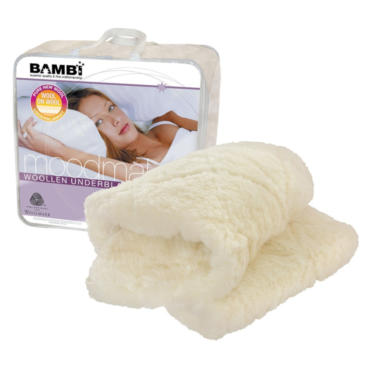 Bambi Moodmaker Single Layer Wool Underblanket