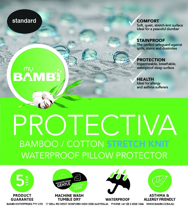 Bambi Protectiva Cotton Bamboo Pillow Protector