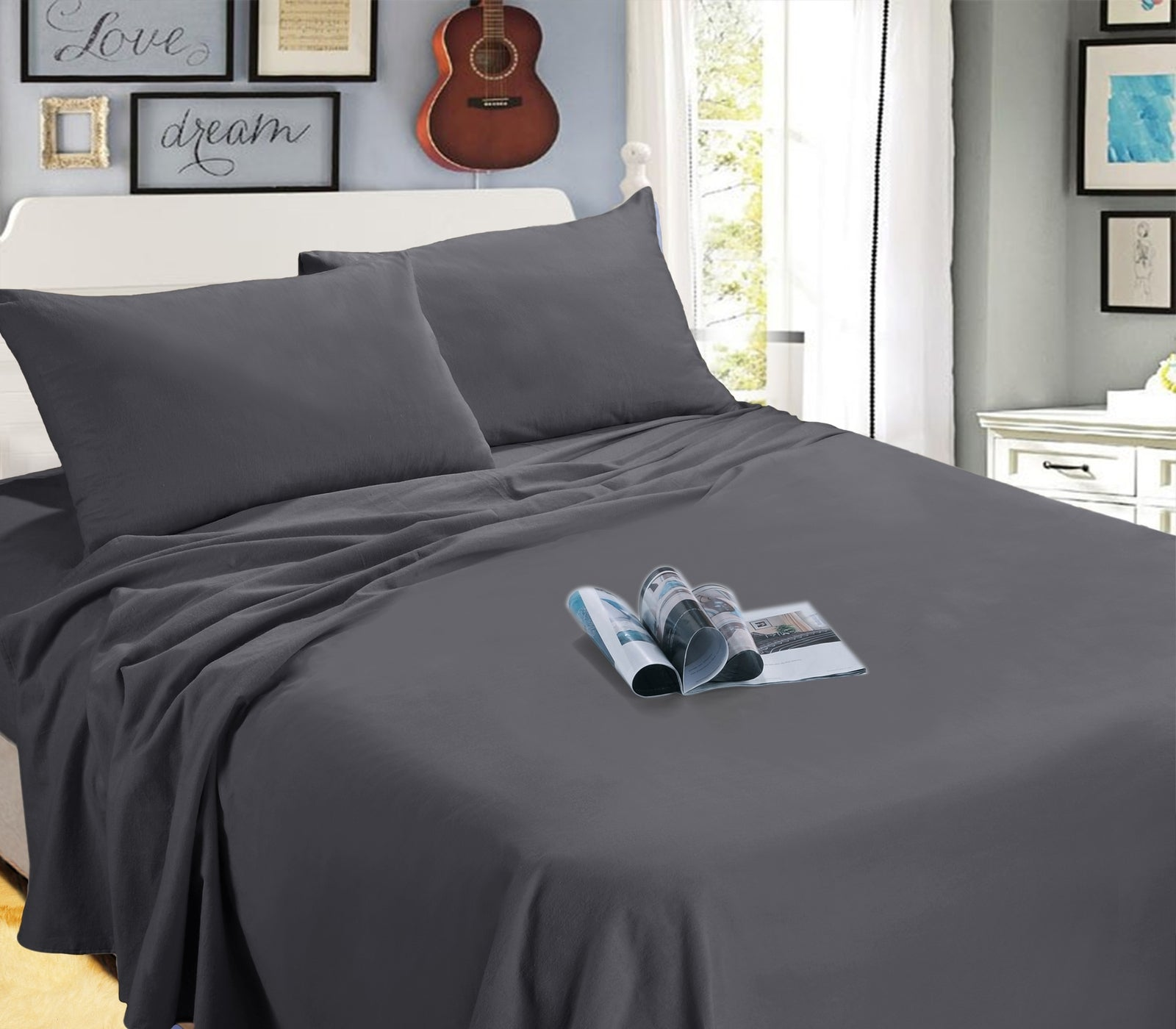 Kingtex Ramesses Egyptian Flanelette Sheet Set
