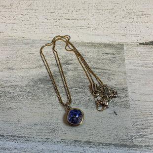 Primary Photo - BRAND: BRIGHTON STYLE: NECKLACE COLOR: SILVER SKU: 132-13288-20535SILVER AND GOLD WITH BLUESTONE PENDANT DROP.