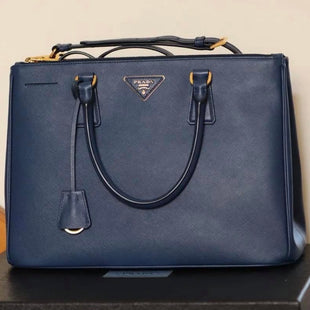 Primary Photo - BRAND: PRADA STYLE: HANDBAG DESIGNER COLOR: BLUE SIZE: LARGE SKU: 132-13219-196561