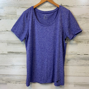 Primary Photo - BRAND: NIKE APPAREL STYLE: ATHLETIC TOP SHORT SLEEVE COLOR: PURPLE SIZE: L SKU: 132-13288-20610