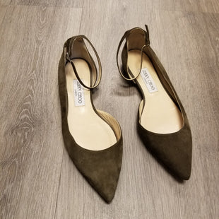 Primary Photo - BRAND: JIMMY CHOO STYLE: SHOES LOW HEEL COLOR: OLIVE SIZE: 8.5 OTHER INFO: 38.5 ITALY SKU: 132-13228-16455SUEDE