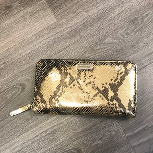 Primary Photo - BRAND: KATE SPADE STYLE: WALLET COLOR: SNAKESKIN PRINT SIZE: LARGE OTHER INFO: GOLD SKU: 132-13262-38576