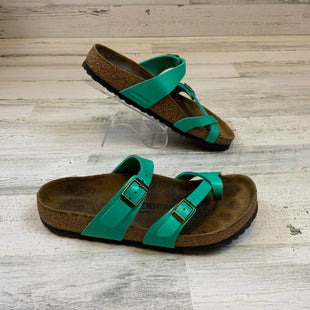 Primary Photo - BRAND: BIRKENSTOCK STYLE: SANDALS FLAT COLOR: GREEN SIZE: 7 SKU: 132-13211-100211