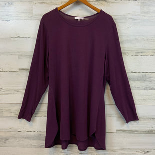 Primary Photo - BRAND: CALVIN KLEIN STYLE: TOP LONG SLEEVE BASIC COLOR: MAROON SIZE: 1X SKU: 132-13219-198659