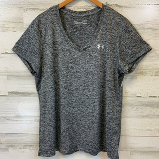 Primary Photo - BRAND: UNDER ARMOUR STYLE: ATHLETIC TOP SHORT SLEEVE COLOR: BLACK SIZE: XL SKU: 132-13219-198134