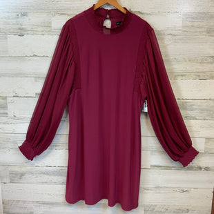 Primary Photo - BRAND: WHITE HOUSE BLACK MARKET STYLE: DRESS SHORT LONG SLEEVE COLOR: MAROON SIZE: XL SKU: 132-13219-198513