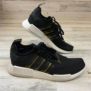Primary Photo - BRAND: ADIDAS STYLE: SHOES ATHLETIC COLOR: BLACK SIZE: 11 OTHER INFO: BLACK/GOLD SKU: 132-13260-14200