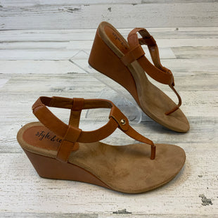 Primary Photo - BRAND: STYLE AND COMPANY STYLE: SANDALS LOW COLOR: BROWN SIZE: 6 SKU: 132-13219-197224