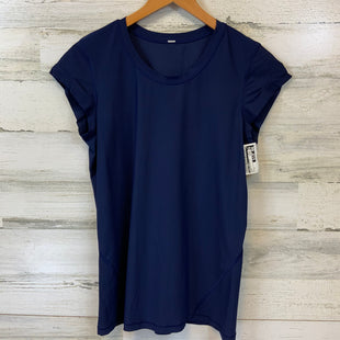 Primary Photo - BRAND: LULULEMON STYLE: ATHLETIC TOP SHORT SLEEVE COLOR: BLUE SIZE: M SKU: 132-13219-198281