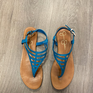 Primary Photo - BRAND: JESSICA SIMPSON STYLE: SANDALS FLAT COLOR: BLUE SIZE: 9.5 SKU: 132-13249-58417