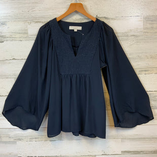Primary Photo - BRAND: ANN TAYLOR LOFT STYLE: TOP LONG SLEEVE COLOR: BLUE SIZE: XS SKU: 132-13219-198697
