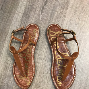 Primary Photo - BRAND: SAM EDELMAN STYLE: SANDALS FLAT COLOR: BROWN SIZE: 8.5 SKU: 132-13228-164235