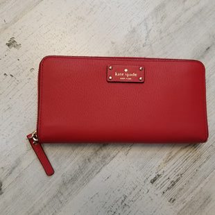 Primary Photo - BRAND: KATE SPADE STYLE: WALLET COLOR: RED SIZE: MEDIUM SKU: 132-13248-9384