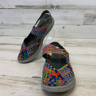 Primary Photo - BRAND: BERNIE MEV STYLE: SHOES LOW HEEL COLOR: GREY SIZE: 8.5 OTHER INFO: 39 RAINBOW WEAVE SKU: 132-13262-40289
