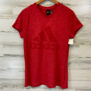Primary Photo - BRAND: ADIDAS STYLE: ATHLETIC TOP SHORT SLEEVE COLOR: RED SIZE: M SKU: 132-13219-198282