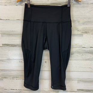 Primary Photo - BRAND: LULULEMON STYLE: ATHLETIC CAPRIS COLOR: BLACK SIZE: 6 SKU: 132-13219-198243