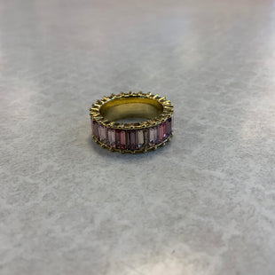 Primary Photo - BRAND:   STERLING STYLE: RING COLOR: STERLING SILVER SIZE: 5 OTHER INFO: GOLD WITH PINK EMERALD CUT STONES SKU: 132-13262-39971