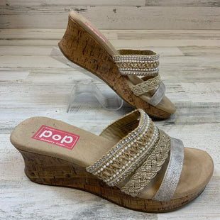 Primary Photo - BRAND:    CLOTHES MENTOR STYLE: SANDALS LOW COLOR: BROWN SIZE: 8 OTHER INFO: EDL - BROWN/SILVER SKU: 132-13260-14228