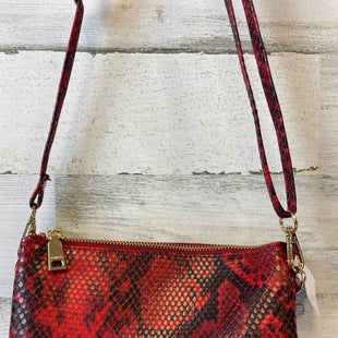 Primary Photo - BRAND:   JEN & COSTYLE: HANDBAG COLOR: SNAKESKIN PRINT SIZE: SMALL 8.5X5X1OTHER INFO: JEN & CO - RED AND BLACK HAS 3 SEPARATE COMPARTMENTS AND CARD SLOTSSKU: 132-13262-37170