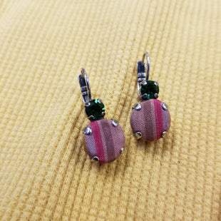 Primary Photo - BRAND: MARIANA STYLE: EARRINGS SKU: 132-13219-196565GREEN CRYSTALS WITH PINK FABRIC ACCENT
