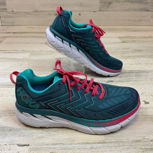 Primary Photo - BRAND:  HOKA ONE ONE STYLE: SHOES ATHLETIC COLOR: GREEN SIZE: 9.5 OTHER INFO: HOKA - GREEN/PINK SKU: 132-13260-14224