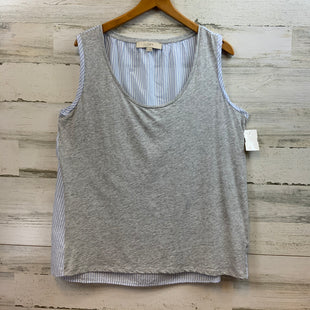Primary Photo - BRAND: ANN TAYLOR LOFT STYLE: TOP SLEEVELESS COLOR: HEATHER GREY FRONT, BLUE AND WHITE STRIPE ON BACKSIZE: L SKU: 132-13228-158515