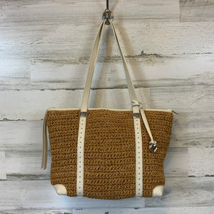 Primary Photo - BRAND: BRIGHTON STYLE: HANDBAG DESIGNER COLOR: STRAW SIZE: LARGE OTHER INFO: CREAM HANDLES AND TRIM SKU: 132-13262-40030