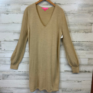 Primary Photo - BRAND: LILLY PULITZER STYLE: DRESS SHORT LONG SLEEVE COLOR: GOLD SIZE: XL SKU: 132-13219-198512SHIMMERY
