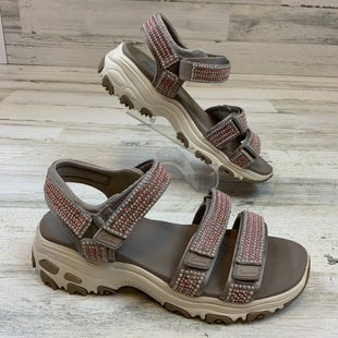 Primary Photo - BRAND: SKECHERS STYLE: SANDALS LOW COLOR: BROWN SIZE: 8 OTHER INFO: BROWN/ ORANGE JEWELED SKU: 132-13260-14220