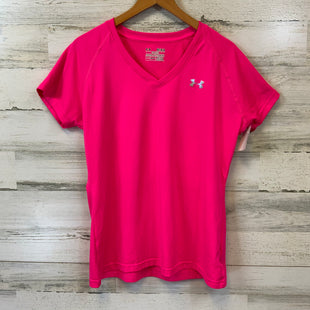 Primary Photo - BRAND: UNDER ARMOUR STYLE: ATHLETIC TOP SHORT SLEEVE COLOR: PINK SIZE: M SKU: 132-13219-198370