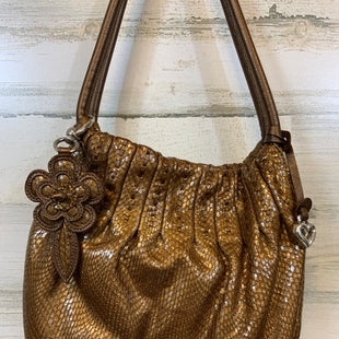 Primary Photo - BRAND: BRIGHTON STYLE: HANDBAG WITH MAGNETIC CLOSURECOLOR: BROWN METALLIC LOOKING SNAKE SKIN TEXTURE WITH DUST BAGSIZE: MEDIUM 10X11X3SKU: 132-13228-159808