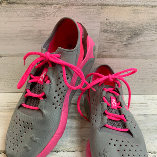 Primary Photo - BRAND: UNDER ARMOUR STYLE: SHOES ATHLETIC COLOR: PINK AND GREYSIZE: 8.5 SKU: 132-13219-197821