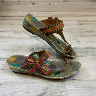 Primary Photo - BRAND: SPRING STEP STYLE: SANDALS LOW COLOR: PINK SIZE: 8.5 OTHER INFO: PINK/GREEN SKU: 132-13260-14231