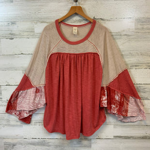 Primary Photo - BRAND: FREE PEOPLE STYLE: TOP LONG SLEEVE COLOR: ORANGE SIZE: L SKU: 132-13219-198685
