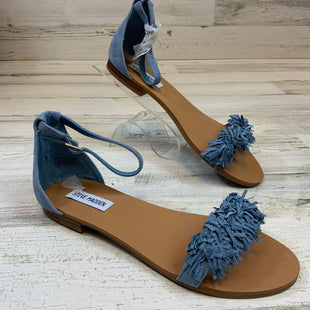 Primary Photo - BRAND: STEVE MADDEN STYLE: SANDALS FLAT COLOR: BLUE SIZE: 8 SKU: 132-13228-165553
