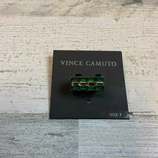 Primary Photo - BRAND: VINCE CAMUTO STYLE: RING COLOR: SILVER SIZE: 7 OTHER INFO: GREEN SKU: 132-13288-20517