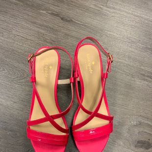 Primary Photo - BRAND: KATE SPADE STYLE: SANDALS HIGH COLOR: HOT PINK SIZE: 8 OTHER INFO: CORK WEDGE SKU: 132-13262-40016