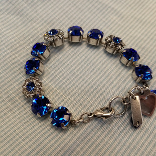 Primary Photo - BRAND: MARIANA STYLE: BRACELET COLOR: BLUE OTHER INFO: 7 IN SILVER CHAIN SKU: 132-13228-164330