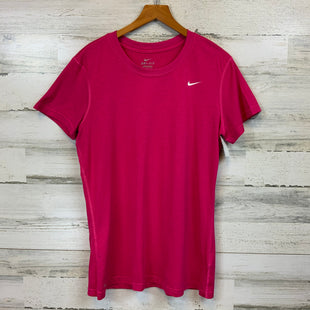 Primary Photo - BRAND: NIKE APPAREL STYLE: ATHLETIC TOP SHORT SLEEVE COLOR: PINK SIZE: L SKU: 132-13260-13965