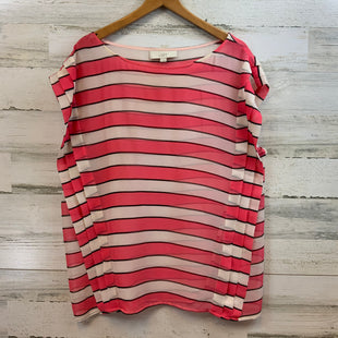 Primary Photo - BRAND: ANN TAYLOR LOFT STYLE: TOP SHORT SLEEVE COLOR: PINK BLACK AND CREAMSIZE: L SKU: 132-13228-156442