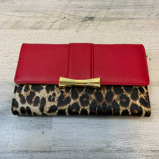 Primary Photo - BRAND: BETSEY JOHNSON STYLE: WALLET COLOR: RED SIZE: LARGE OTHER INFO: ANIMAL PRINT ACCENT SKU: 132-13228-164476