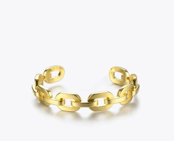 Gold Plated Link Chain Bracelet