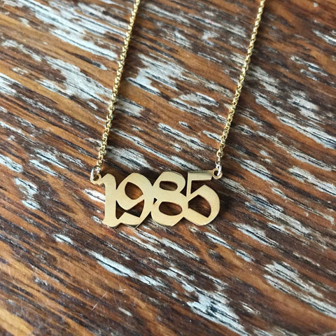 Customized Birth Years Pendant Necklace